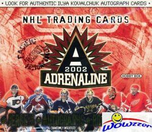 2001/02 Pacific Hockey Adrenaline Hockey HUGE Factory Sealed HOBBY Box-2 JERSEY