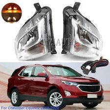 Left Right Fog Light Lamps For Chevrolet Equinox 2018 2019 2020 w/ Bulbs Pair