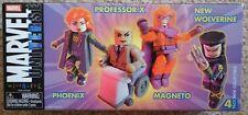 Phoeinx Professor X New Wolverine Magneto Mini Mates Marvel figures New
