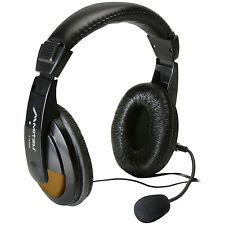 NEW Digital Media Headset.Microphone Boom Talking.Gamer Skype Headphones.w/ Mic