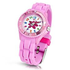 Flower Watch with Pink Silicon Strap 50m (5ATM) by Jo for Girls