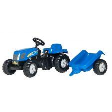 Rolly Toys New Holland T 7550 Trattore con rimorchio Trettraktor senza FRONT caricatrici