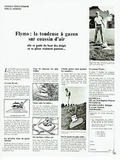 PUBLICITE ADVERTISING 037  1972  la tondeuse à gazon coussin air Flymo