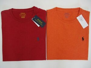 AUTHENTICITY GUARANTEED Ralph Lauren T/Shirt, Size S. Red or Orange, BNWT