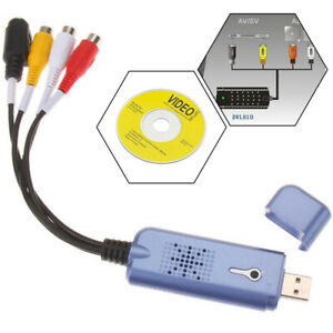 CONVERTITORE ADATTATORE DIGITALE AUDIO + VIDEO GRABBER USB 2.0 PER WIN7 NTSC PAL
