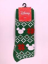 Disney Mickey Mouse UGLY SWEATER Christmas Men's Crew Socks Size 10-13 NWT