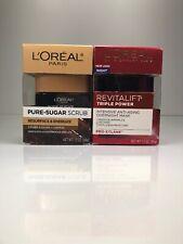 2 L'Oreal Revitalift Triple Power Intensive Overnight Mask & Pure Sugar Scrub