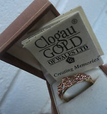 Clogau Welsh 9ct Rose & Yellow Gold Tree Of Life Ring  h/m 2000 -  size  U