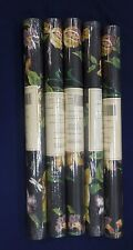 Victorian Trailing Floral Ronald Redding Color on Black #RN6852 (Lot of 5 Roll)