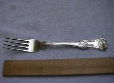 Fine Heavy BALDWIN GARDINER New York 1820s KINGS Pattern DINNER FORK-8 1/4 Inch
