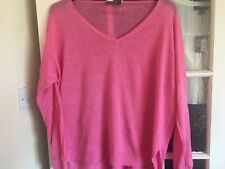 WOMENS FAB MINT VELVET PINK LINEN TOP SIZE XL