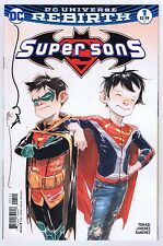Super Sons #1B Variant Signed w/COA by Dustin Nguyen Near Mint 2017 DC Comics