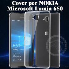 CUSTODIA COVER PER NOKIA Microsoft Lumia 650 slim morbido TPU + 1 pellicola