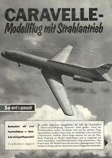 Bauplan Fesselflugmodell Sud Aviation SE-210 Caravelle - Original von 1961