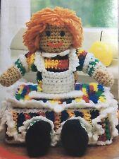 Crochet Pattern ~Only~ RAG DOLL BOX little girls organizer book inst good condit