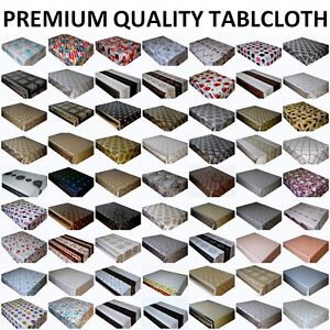 WIPE CLEAN TABLECLOTH VINYL PVC WIPEABLE OILCLOTH TABLE COVER PROTECTOR
