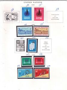 stamps United Nations  26  see 3 scans