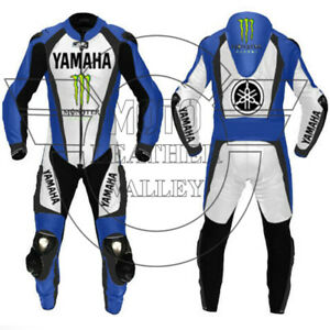 YAMAHA Motorcycle/Motorbike Leather Suit MOTOGP Mens Racing Biker Leather Suits