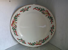 "Federated Department Stores Christmas HOLLY & BELLS Dinner Plate 10 3/8"" Dept."