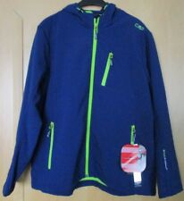 CMP Campagnolo Softshell Jacke Kapuze Wind Protect, blau neongrün königsblau 46