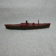 Vintage Hard Plastice Toy Boat 5 1/4'' Long X 1'' Tall (1B)