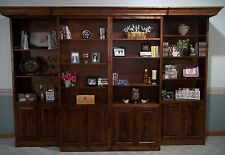 Custom Crafted Library Style Murphy Bed Sliding Bookcases Cabinets 8 Door