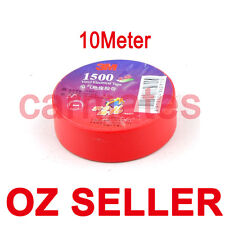 1 roll 10 meters 3M Premier Grade red Electrical Tape for LED Light Cable Wire