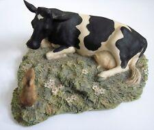 Porcelain Cow, Painted In Scotland, Circa 1984, Fine Piece