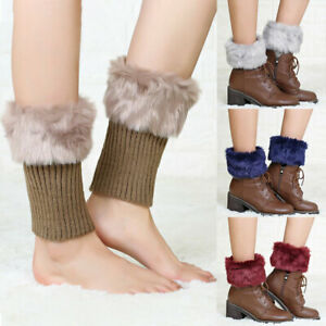 Women Leg Warmer Adult Knitted Toppers Winter Outdoor Fashion Boots Socks Soft