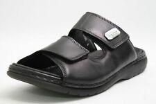 Rieker Pantoletten schwarz Leder Klettverschluss komfort Herren