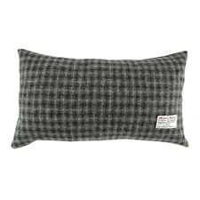 Authentic Harris Tweed Rectangular Cushion Grey Check LB4001 COL 61 - MADE IN UK