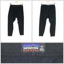 Patagonia Solid Black Capilene Thick Thermal Baselayer Fleece Leggings - Large