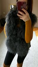 Mongolian Lamb Fur Leather Suede Exclusive Collection  Gilet, Vest, UK 12