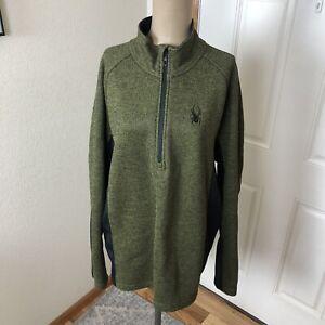 Spyder 1/4 Zip Men's Pullover Jacket Green & Black