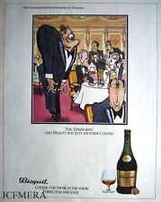BISQUIT Cognac 'The Diner' Advert - Jensen after Bateman Series 1981 Print AD