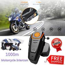 BT-S2 Bluetooth 3.0 Motorcycle Helmet Intercom Interphone Headset FM Radio 1000m