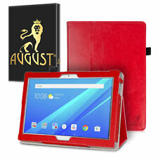 August® Luxury Leather Case Cover & Screen Protector For Lenovo Tab 4 10 Plus