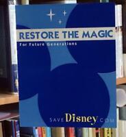 Roy E. Disney SAVE DISNEY Window Decal 2003 Battle to RESTORE THE MAGIC Bob Iger