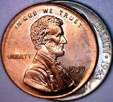 1999 Large Broadstruck Error Lincoln Cent Ch Bu Nickel Size Broad Strike Coin Nr
