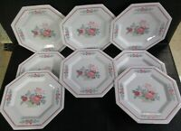 Fairfield China WILLIAMSBURG Dinner Octagonal Plates Set Of Eight (AD)