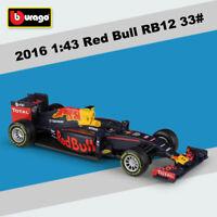 Diecast Model 1:43 Formula 1 Cars Infiniti Red Bull TAG Heuer RB12 M. Verstappen