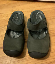 Women's Keen Black Mary Jane Mule Size 6.5 Slip On Comfortable Leather Upper