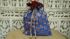 blue  bollywood  indian punjabi hand crafted wedding evening silk bag SKU15089