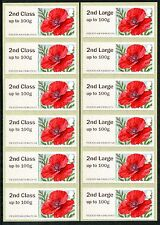 NCR ERRORS 2nd + 2nd LARGE PAIR OF STRIPS/6 MA15 POPPY POPPIES ERROR POST & GO