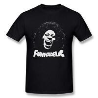 Men's Funkadelic George Clinton Logo Man T shirt Black