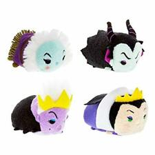 Disney Villains Tsum Tsum Set of 4 Plush Maleficent Ursula Leota Evil Queen
