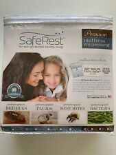 SafeRest Full Size Premium Hypoallergenic Waterproof Mattress Protector - Vinyl