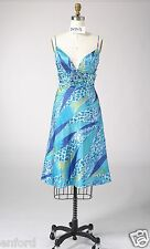 Size 6 to 8 Woman Satin Print Beading Cocktail Evening Formal Party Short Dress