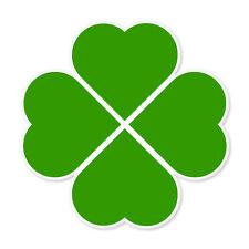 """Four Leaf Clover Irish Ireland car bumper sticker 4"""" x 4"""""""