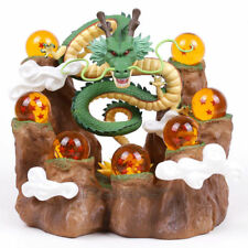 Dragonball Z Shenron Figure & Mountain Stand & Crystal Balls Statue Toy New